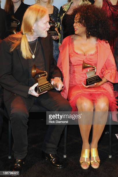 Honorees Gregg Allman and Diana Ross attend The 54th Annual GRAMMY Awards Special Merit Awards Ceremony And Nominee Reception at The Wilshire Ebell...