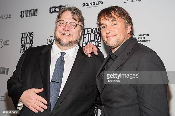 Honorees Guillermo Del Toro and Richard Linklater attend the Austin Film Society's 15th Annual Texas Film Awards at Austin Studios on March 12, 2015...