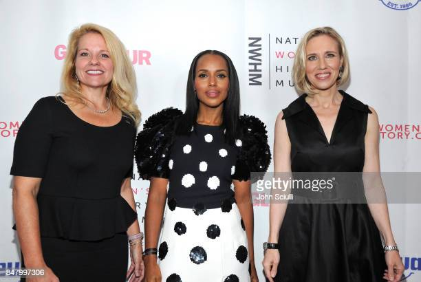 Honorees Gwynne Shotwell Kerry Washington and Marne Levin at the Women Making History Awards at The Beverly Hilton Hotel on September 16 2017 in...