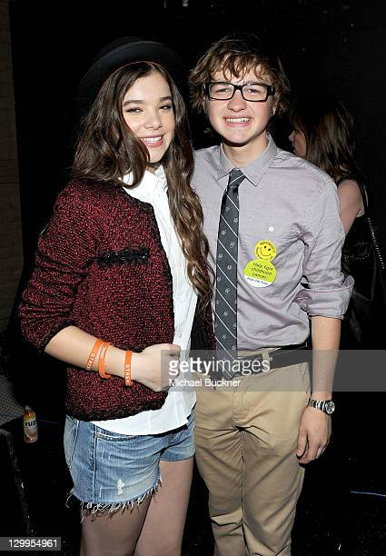 Honorees Hailee Steinfeld and Angus T Jones attend Variety's 5th annual Power Of Youth event presented by The Hub at Paramount Studios on October 22...
