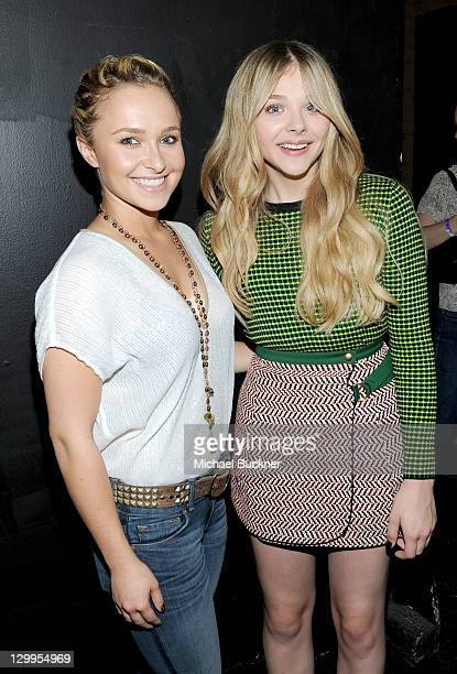 Honorees Hayden Panettiere and Chloe Moretz attend Variety's 5th annual Power Of Youth event presented by The Hub at Paramount Studios on October 22...