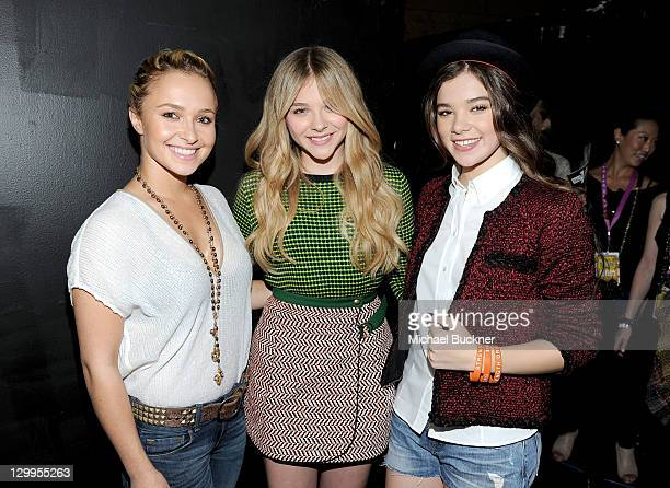 Honorees Hayden Panettiere Chloe Moretz and Hailee Steinfeld attend Variety's 5th annual Power Of Youth event presented by The Hub at Paramount...