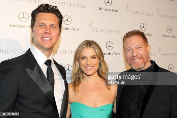 Honorees Hayes MacArthur and Ali Larter with The Art of Elysium Chairman Ryan Kavanaugh attend The Art of Elysium's 7th Annual HEAVEN Gala presented...