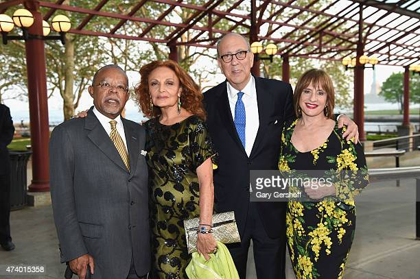 Honorees Henry Louis Gates Jr Diana von Furstenberg president and chief executive officer of the Statue of LibertyEllis Island Foundation Stephen...