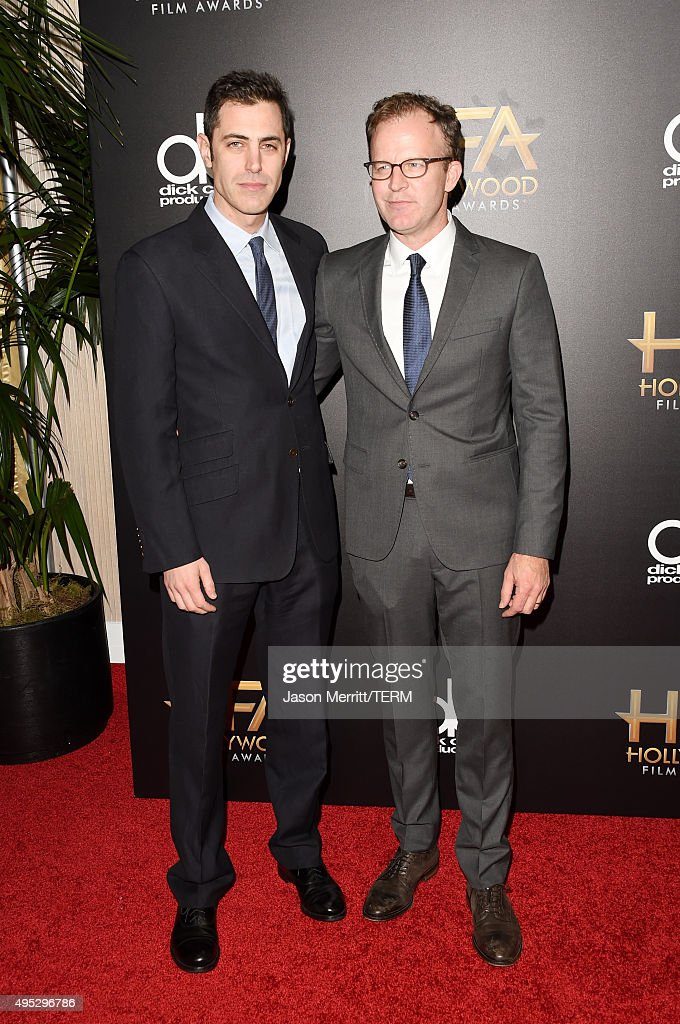 Honorees, Hollywood Screenwriter Award, Josh Singer (L) and Tom McCarthy attend the 19th Annual Hollywood Film Awards at The Beverly Hilton Hotel on November 1, 2015 in Beverly Hills, California.