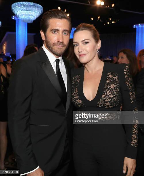 Honorees Jake Gyllenhaal and Kate Winslet attend the 21st Annual Hollywood Film Awards at The Beverly Hilton Hotel on November 5 2017 in Beverly...