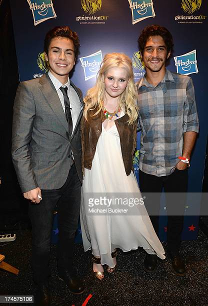 Honorees Jake T Austin Abigail Breslin and Tyler Posey attend Variety's Power of Youth presented by Hasbro Inc and generationOn at Universal Studios...