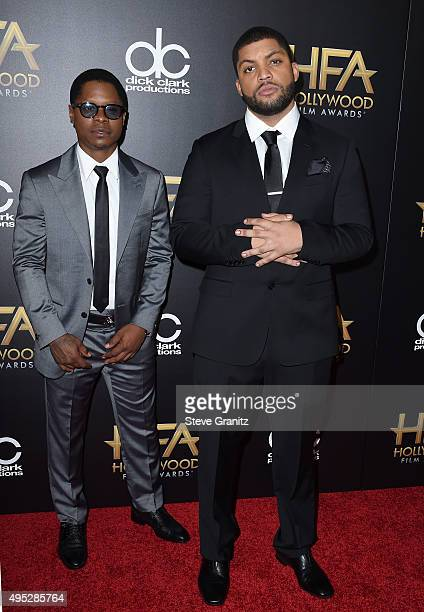 Honorees Jason Mitchell and O'Shea Jackson Jr attend the 19th Annual Hollywood Film Awards at The Beverly Hilton Hotel on November 1 2015 in Beverly...