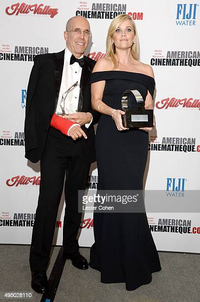 Honorees Jeffrey Katzenberg and Reese Witherspoon attend the 29th American Cinematheque Award honoring Reese Witherspoon at the Hyatt Regency Century...