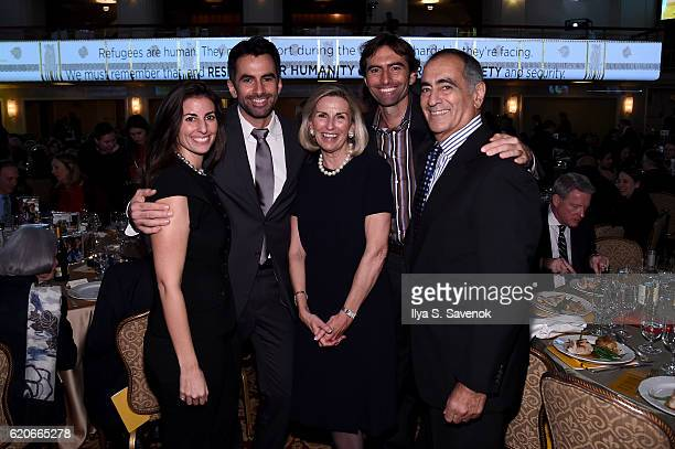 Honorees Jenna Mack Stephen Mack Christy Mack John C Mack and John J Mack attend the International Rescue Committee 2016 Rescue Dinner at the Waldorf...