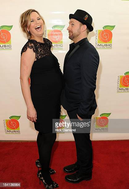 Honorees Jennifer Nettles and Kristian Bush of Sugarland arrives on the Red Carpet before the 34th Annual Georgia Music Hall of Fame Awards Concert...