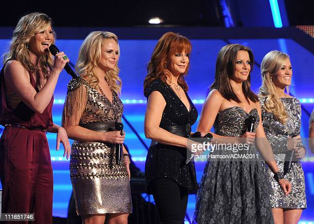 Honorees Jennifer Nettles Miranda Lambert Reba McEntire Martina McBride and Carrie Underwood perform onstage during ACM Presents Girls' Night Out...