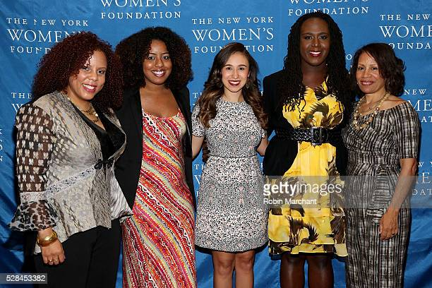 Honorees Joanne Smith Gloria Malone Amanda Mato Cherno Biko and Taina Bien Aime attend The New York Women's Foundation's 2016 celebration womens...