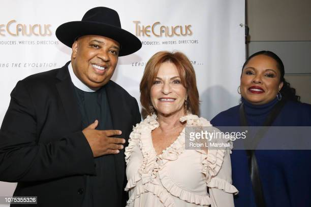 Honorees Jospeh Rev Run of RUN DMC President of Lionsgate Television Group Sandra Stern and Justine Simmons attend the 36th Annual Caucus Awards...