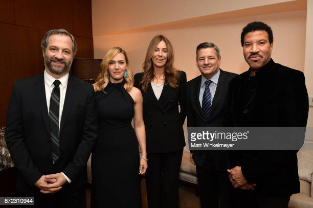 Honorees Judd Apatow Kate Winslet Kathryn Bigelow Ted Sarandos and Lionel Richie attend the SAGAFTRA Foundation Patron of the Artists Awards 2017 at...
