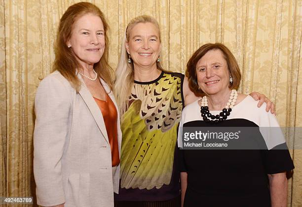 Honorees Kaiulani Lee Nell Newman and Ellen Futter attend the National Audubon Society's Women In Conservation luncheon at The Plaza Hotel on May 20...
