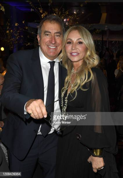 Honoree's Kenny Ortega and Anastasia Soare pose at the Los Angeles Ballet Gala 2020 at The Broad Stage on February 28 2020 in Santa Monica California