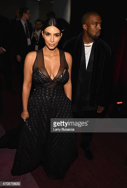 Honorees Kim Kardashian and Kanye West attend TIME 100 Gala TIME's 100 Most Influential People In The World on April 21 2015 in New York City