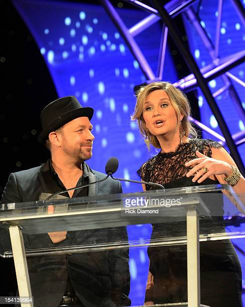 Honorees Kristian Bush and Jennifer Nettles of Sugarland at the 34th Annual Georgia Music Hall of Fame Awards Concert and Show at Cobb Energy...