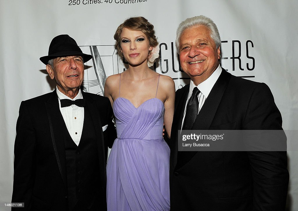 Honorees Leonard Cohen, Taylor Swift and Martin Bandier of the Song Writers Hall of Fame attend the 41st Annual Songwriters Hall of Fame Ceremony at The New York Marriott Marquis on June 17, 2010 in New York City.