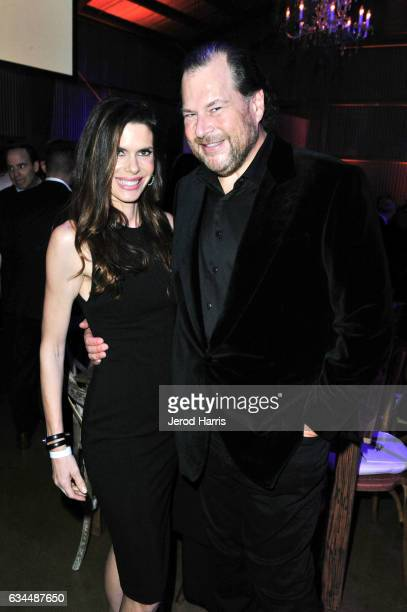 Honorees Lynne Benioff and Marc Benioff attend william's iamangel Foundation TRANS4M 2017 Gala at Milk Studios on February 9 2017 in Hollywood...