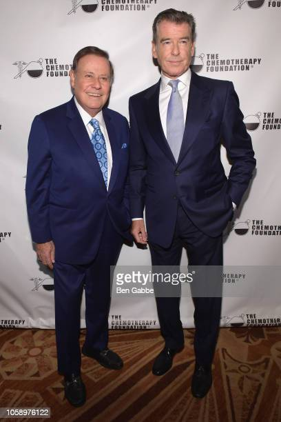 Honorees Marvin Scott and Pierce Brosnan attend the 2018 Innovation Gala where Chemotherapy Foundation honors Actor Producer and Philanthropist...