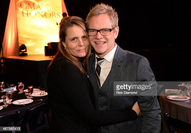 Honorees Mary Beth Chapman and Steven Curtis Chapman of Show Hope attend the GMA Honors Celebration and Hall of Fame Induction at the Allen Arena at...