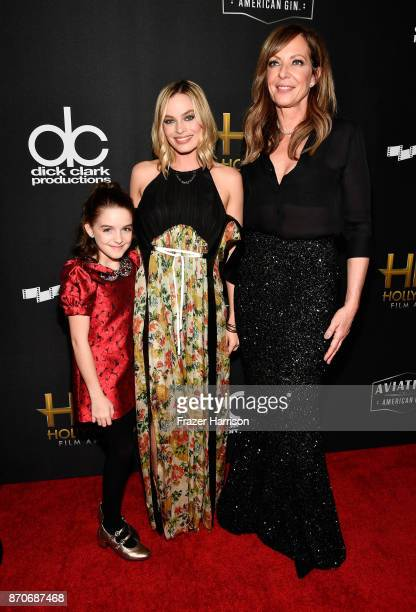 Honorees Mckenna Grace Margot Robbie and Allison Janney attend the 21st Annual Hollywood Film Awards at The Beverly Hilton Hotel on November 5 2017...