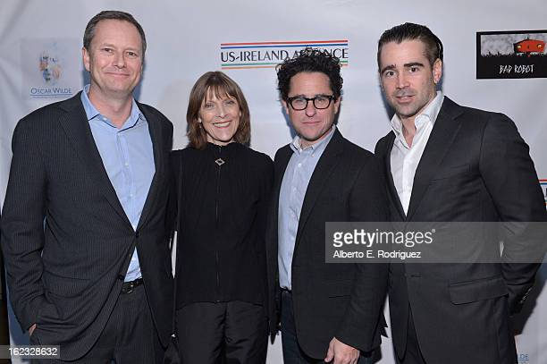 Honorees Michael R Burns Vice Chairman of Lions Gate Entertainment's Board of Directors makeup artist Michele Burke producer JJ Abrams and actor...