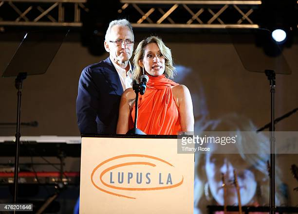 Honorees Michelle Kaye and Alan Kaye attend the Lupus LA's Orange Ball A Night of Superheroes at the Fox Studio lot on June 6 2015 in Century City...