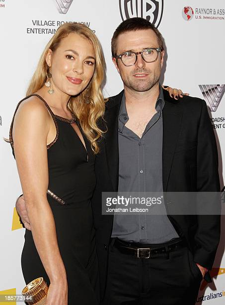 Honorees Mirrah Foulkes and David Michod of BlueTongue Films attend the 2nd Annual Australians in Film Awards Gala at Intercontinental Hotel on...