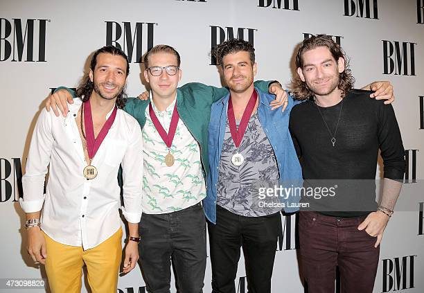 Honorees Nasri Alex Tanas Mark Pellizzer and Ben Spivak of Magic attend the 63rd Annual BMI Pop Awards held at the Beverly Wilshire Hotel on May 12...