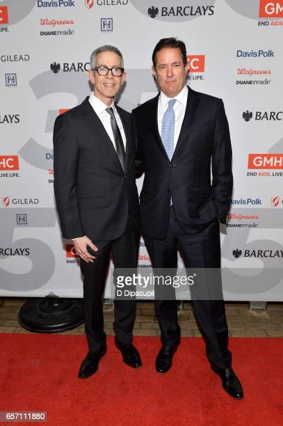 Honorees Peter Staley and Jes Staley attend the GMHC 35th Anniversary Spring Gala at Highline Stages on March 23 2017 in New York City