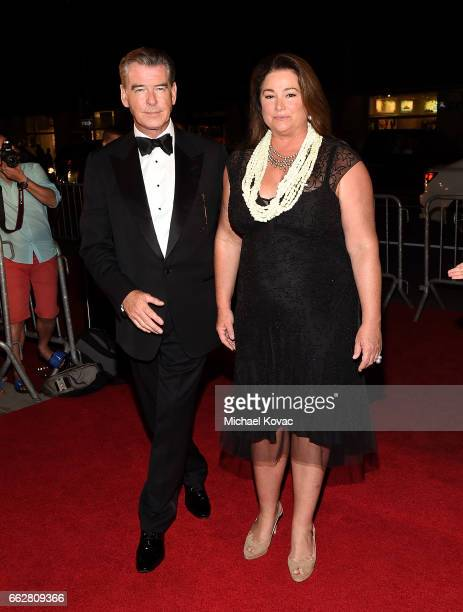 Honorees Pierce Brosnan and Keely Shaye Brosnan arrive at the 8th Annual Hawaii European Cinema Film Festival Gala at Moana Surfrider on March 31...