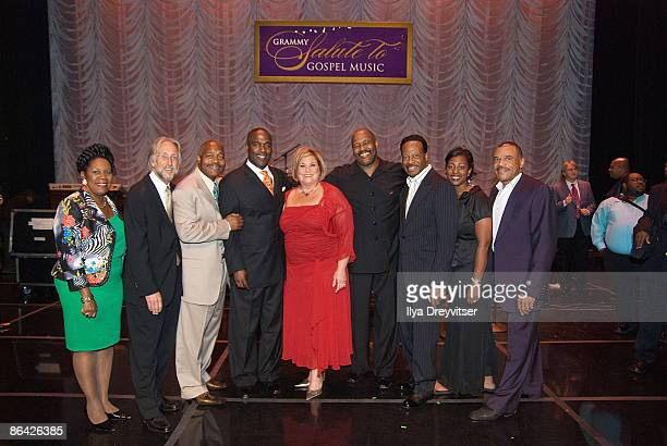 Honorees pose for a photo with Neil Portnow during the GRAMMY Salute to Gospel Music at the Lincoln Theatre on June 18 2008 in Washington DC