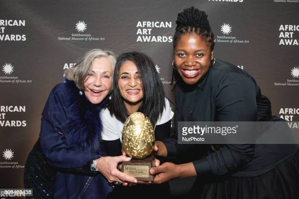 philanthropist Alice Walton and artists Ghada Amer and Mary Sibande at The Smithsonian National Museum of African Art's 2nd annual African Art Awards...
