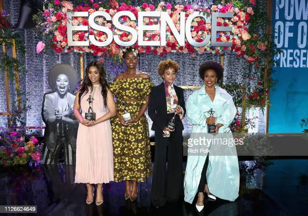 Honorees Regina Hall KiKi Layne Amandla Stenberg and Jenifer Lewis attend the 2019 Essence Black Women in Hollywood Awards Luncheon at Regent Beverly...