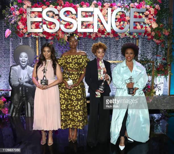Honorees Regina Hall KiKi Layne Amandla Stenberg and Jenifer Lewis attend the 2019 Essence Black Women in Hollywood Awards Luncheon at Regent Beverly...