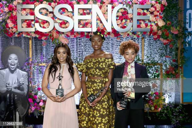 Honorees Regina Hall KiKi Layne and Amandla Stenberg attend the 2019 Essence Black Women in Hollywood Awards Luncheon at Regent Beverly Wilshire...