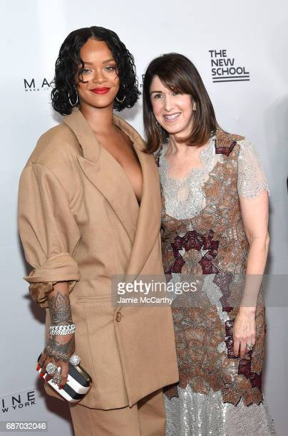 Honorees Rihanna and Karen Katz attend the 69th Annual Parsons Benefit at Pier 60 on May 22, 2017 in New York City.