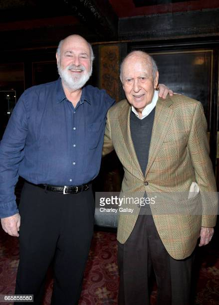 Honorees Rob Reiner and Carl Reiner attend the Carl and Rob Reiner Hand and Footprint Ceremony during the 2017 TCM Classic Film Festival on April 7...