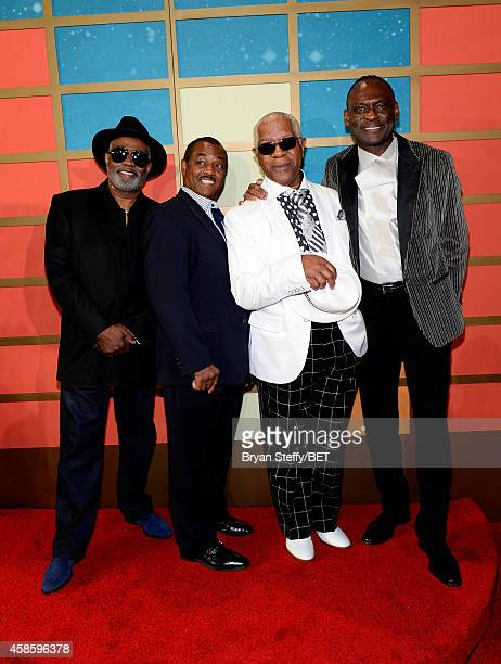 Honorees Robert Kool Bell Ronald Bell Dennis Thomas and George Brown of Kool and the Gang attend the 2014 Soul Train Music Awards at the Orleans...