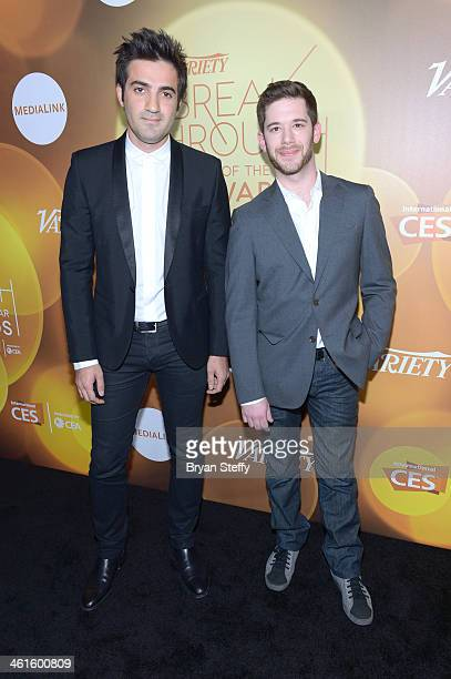 Honorees Rus Yusupov and Colin Kroll attend the Variety Breakthrough of the Year Awards during the 2014 International CES at The Las Vegas Hotel...
