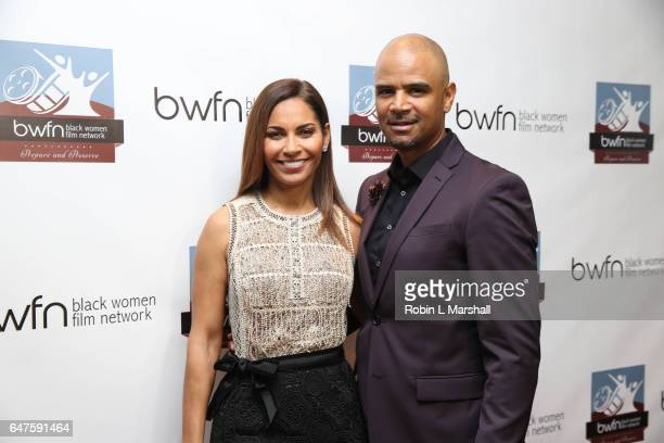 Honorees Salli Richardson Whitfield and Dondre Whitfield attend the 2017 Black Women Film Network 'Untold Stories' Awards Luncehon at Atlanta...