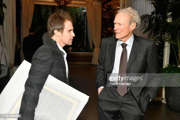 Honorees Sam Rockwell and Clint Eastwood attend the 20th Annual AFI Awards at Four Seasons Hotel Los Angeles at Beverly Hills on January 03, 2020 in...
