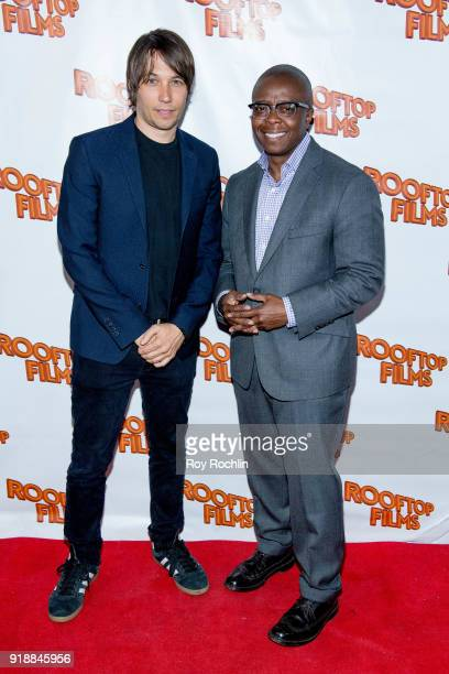 Honorees Sean Baker and Yance Ford attend the 2nd Annual Rooftop Gala at St Bart's Church on February 15 2018 in New York City