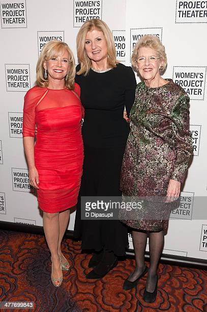 Honorees Sharon Bush Arianna Huffington and Joan Vail Thorne attend the Women Project Theater's 2014 Women Of Achievement Gala at the Mandarin...
