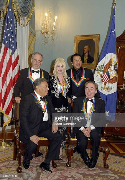 Honorees Steven Spielberg Dolly Parton Smokey Robinson Lord Andrew Lloyd Webber and Zubin Mehta during the 2006 Kennedy Center Honors at the United...