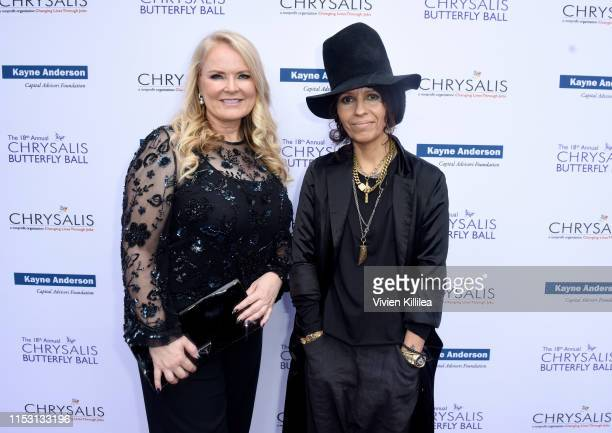 Honorees Suzanne Todd and Linda Perry attend the 18th annual Chrysalis Butterfly Ball on June 01 2019 in Brentwood California