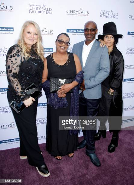 Honorees Suzanne Todd Suzette Donaldson Antonio Donaldson and Linda Perry attend the 18th annual Chrysalis Butterfly Ball on June 01 2019 in...